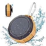 Bluetooth Speaker,Waterproof Shower Speaker,Hcman Super Portable Speaker with Micro SD Card Slot, Built-In Mic,Enhanced Bass, works with iPhone, iPad, Samsung, Nexus, HTC, Laptops (Orange)
