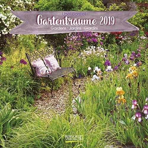 Gartenträume 2019. Broschürenkalender: Broschürenkalender mit Ferienterminen