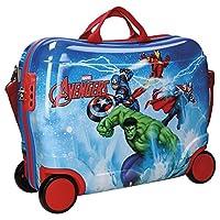 Avengers Valigia Trolley Cavalcabile in ABS Parti sempre in compagnia dei tuoi supereroi preferiti con il trolley cavalcabile Avengers! Realizzato in ABS, materiale leggero e resistente, il bagaglio è dotato di quattro ruote e tracolla regola...