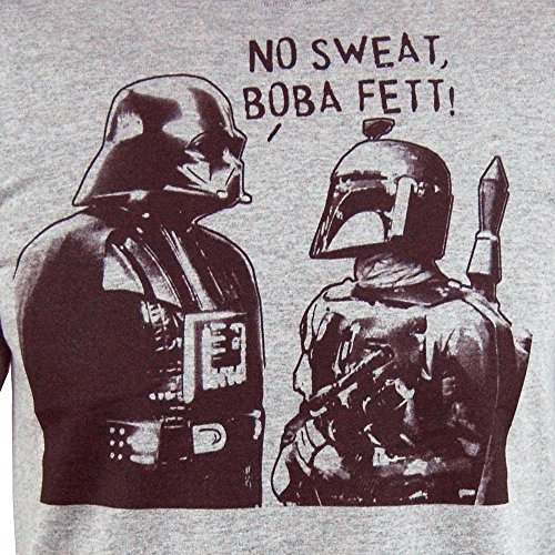 Herren Star Wars Boba Schweiß T Shirt Heather Grau Grau