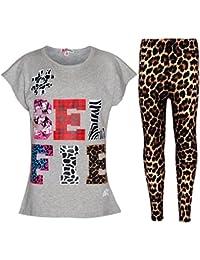 A2Z 4 Kids® Girls Top Kids Selfie Print Trendy T Shirt Top & Fashion Legging Set Age 7 8 9 10 11 12 13 Years