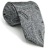 Shlax&Wing Traje de negocios Cachemir Corbatas Para Hombre Gris Ties Classic 57.5'