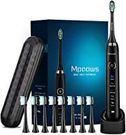 Sonic Electric toothbrush With Travel Case and 8 brush heads, 6 Hours Charge Minimum 30 Days, Use 5 Optional Modes, Adapt to