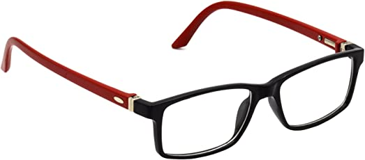HRINKAR Black Rectangle and Square Bifocal and Single Vision Latest Optical Spectacle Chasama Frame - HFRM-BK-RD-17