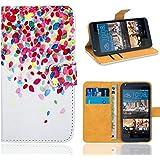 HTC Desire 626 626G Funda, FoneExpert® Wallet Flip Billetera Carcasa Caso Cover Case Funda de Cuero Para HTC Desire 626 626G (Pattern 1)