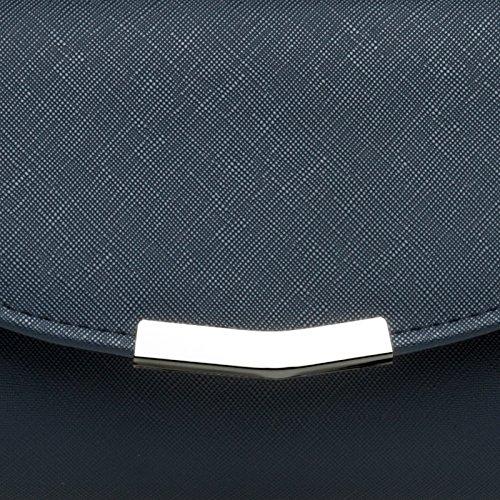 Amazon Salida CASPAR TA360 Donna Pochette a Busta Elegante Metallizzata / Opaca Blu scuro Comercializable Barato Venta En Línea Exclusiva Barato PX8FSgVbwb