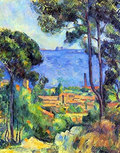 Das Museum Outlet–Land Scape by Cezanne, gespannte Leinwand Galerie verpackt. 29,7x 41,9cm (Land-dekor-wand-kunst)