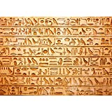 Vlies Fototapete PREMIUM PLUS Wand Foto Tapete Wand Bild Vliestapete - Abstrakt Hyroglyphen Alt - no. 180 Hyroglyphen Alt Abstrakt Ornamente Symbole, Größe:300x210cm Vlies
