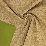 kawenSTOFFE Softshell Braun Grün Fleecestoff Strickstoff