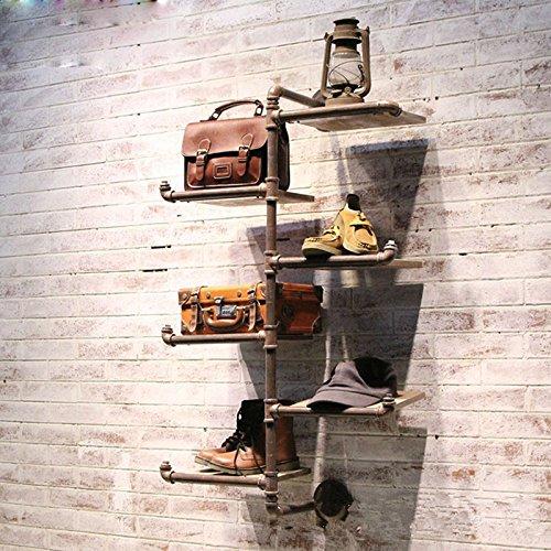 GaoXiao_ Kleidungsstück Zahnstangen-Shop zeigt alte Schuhregal retro Rohr