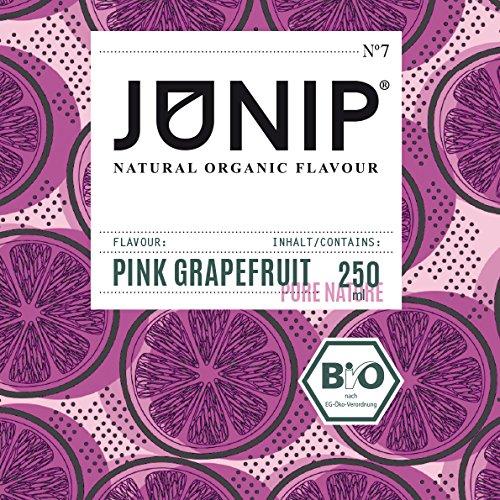 JUNIP Organics - natürliches Bio Aroma (Pink Grapefruit), 250 ml Flasche für 50 Gläser Wasser