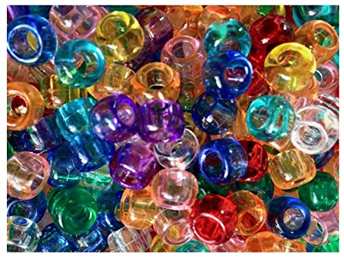 100 durchsichtige Glasperlen Mix Webstuhl Pony Band (Webstuhl Anfänger)