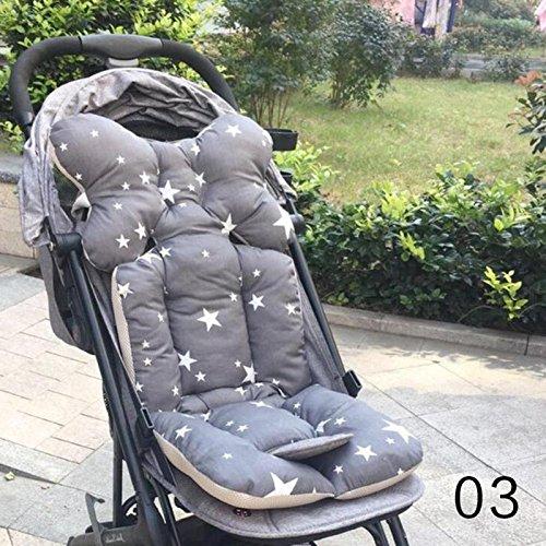 Hykis Baby Printed Pad Sitz Warm-Kissen-Auflage Matratzen Kissenbezug Kinderwagen Carriage verdicken Pad Trolley Stuhlkissen [3]