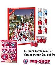 FC Bayern München Calendrier de l'Avent XXL rempli avec les cartes des joueurs avec leur autographe et 25 x carrés de chocolat au lait entier