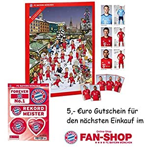 fc bayern m nchen adventskalender autogrammkarten aufkleber set 25 x schokoladen t felchen. Black Bedroom Furniture Sets. Home Design Ideas