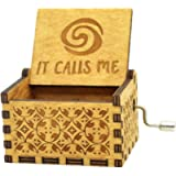 Moana It Calls Me Music Box Wooden Engraved Gift Musical Box Hand Crank Moana Music Box For Kids,Home Decoration Crafts