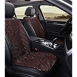 LHP Asiento verano cojines de madera del grano de amortiguador del coche fundas de asiento universal Covers Set Gama alta ( Color : B )