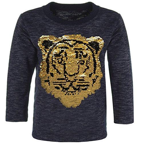 BEZLIT Jungen Pullover Wende Pailletten Sweatshirt Tiger 21497, Farbe:Navy, Größe:152