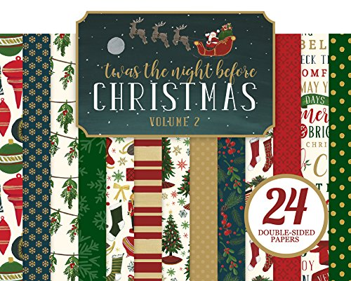 Echo Park Paper Company TWAS The Night Before Christmas 6x 6Papier Pad Vol. 11 -
