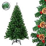 Weihnachtsbaum Tannenbaum künstlicher Christbaum 150 cm mit 680 Zweige in grün