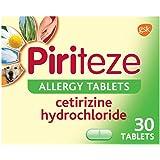 Piriteze Antihistamine Allergy Relief Tablets, Cetirizine, Hay Fever Tablets - Pack of 30
