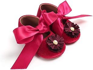 WangsCanis Baby Mädchen Newborn Casual Weiche Sohle Loafers Mokassin Blume Perle Bowknot Turnschuhe Schuhe