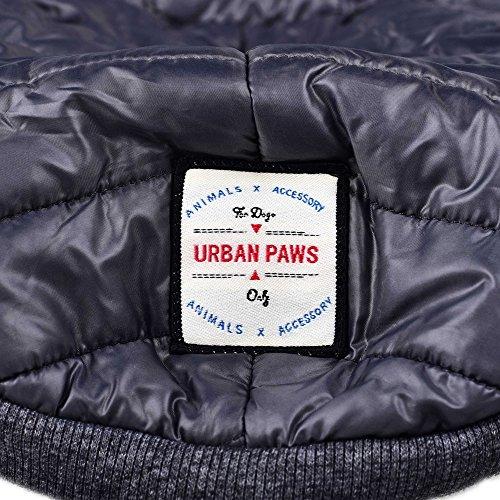 SUPEREX® Baumwollejacke Pet Coat Jacket Costüm Hundemantel Hundepullover Winterjacke Dog Vest für Welpen Hund, Herbst Weste, Winter Vest Warm Padded Hooded Haustier hoody Kleidung Hundebekleidung Hundejacke (Grau,L) (Achten Sie bitte auf die Größe) - 4