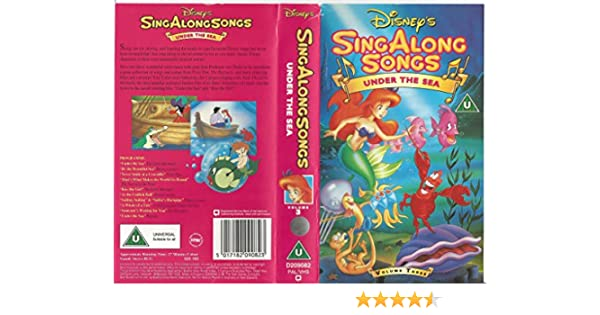 Sing Along Songs Under The Sea Vhs Disney Amazon Co Uk Video