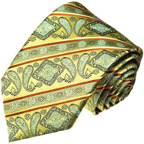 Lorenzo Cana - Corbata - Rayas - para hombre Verde turquesa