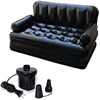 NEERVAN STORE Air Sofa Bed 5 in 1 Inflatable Couch with Electric Pump (Black)