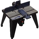FERM Överhandsfräsbord – med dammsugaranslutning – justerbar vinkelguide – universal: för överfräs med stativ upp till 162 mm