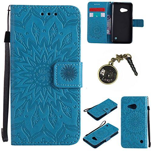 Preisvergleich Produktbild PU Lumia 550 / Nokia N550 Hülle, Klappetui Flip Cover Tasche Leder [Kartenfächer] Schutzhülle Lederbrieftasche Executive Design Microsoft Lumia 550 / Nokia N550 +Staubstecker (6GG)