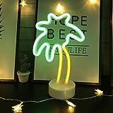 LED- Palme Neonlicht Zeichen Neon Schilder Lampen Blitz Neon Lights warmes Weiß Dekor-Blitz Neonlichter Batterie/USB Powered