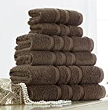 Egyptian Cotton Bath Sheet 600gsm Luxury Extra Large Jumbo Thick Bathroom Towels Striped Super Soft Combed Highly Absorbent High Quality Towels 90 x 140 Cm , Charcoal