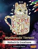 Wundervolle Tierwelt: Malbuch für Erwachsene | Schwarzes Papier