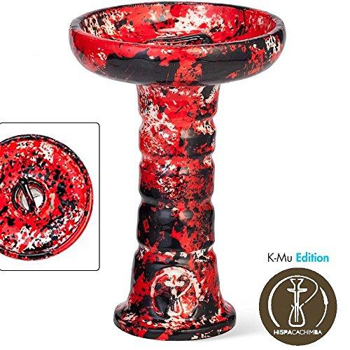 """'Zuhause Shisha Keramik Phunnel Paint """"Erstellt und handbemalt–Wasserpfeife Shisha Shisha–Zuhause Cascada k-mu Edition–hispacachimba–Model Vampire"""
