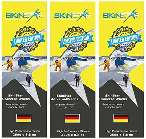 SKINSTAR Universal Wachs LIMITED EDITION Ski und Langlauf Wachs Ski Wax 750g