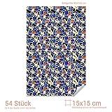Graz Design 767084_15x15_90 Fliesenaufkleber Bunte Mosaik - Steine | mit Fliesenbildern die Fliesen-Wände überkleben (Fliesenmaß: 15x15cm (BxH)//Bild: 90x135cm (BxH))