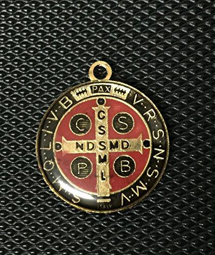 Medaille Benedikt St. (Sehr schöne Medaille von St. Benedict von Nursia Öltropfen Patriarch der Mönche des Westens (schwarz und rot))