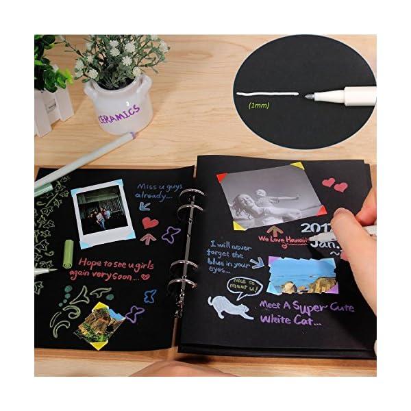 Pennarelli Metallici, Beurpo Set Di 10 Penne Metallici Marker Specifici Per Album Fotografici, Scatole e Biglietti… 5 spesavip