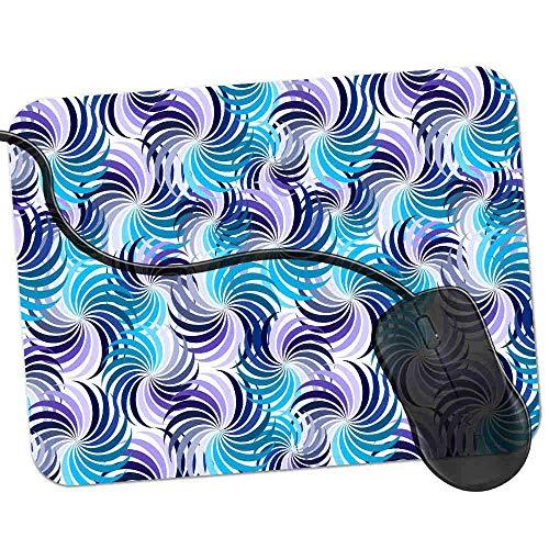 Gaming Mauspad Blaue lila Farbräder Fransenfreie Ränder spezielle Oberfläche verbessert Geschwindigkeit und Präzision rutschfest 2K346