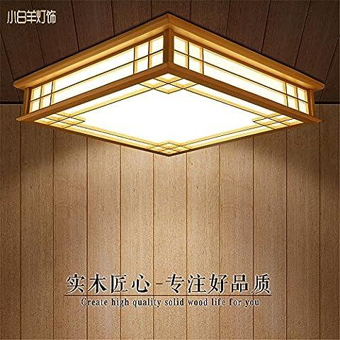 Malovecf Logs du Plafond Japonais Lampe en Bois Salon Chambre Étude Japonaise Tatami Tapis Lampe, 350Mm, 20W, Led, Lumière Chaude
