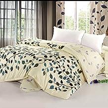 impresión funda nórdica 100% algodón rural suave cómodo zip luz respirable-H 150x200cm(59x79inch)