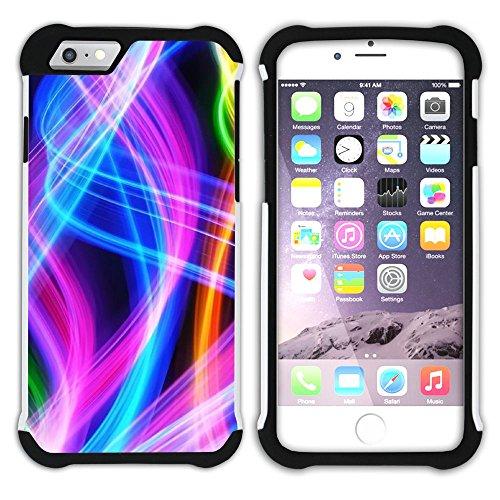 Graphic4You Regenbogen Farben Hart + Weiche Kratzfeste Hülle Case Schale Tasche Schutzhülle für Apple iPhone 6 Plus / 6S Plus Design #25