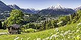 Artland Qualitätsbilder I Glasbilder Deko Glas Bilder 100 x 50 cm Landschaften Berge Foto Grün G4MF Malerische Landschaft in Den Bayerischen Alpen, Deutschland