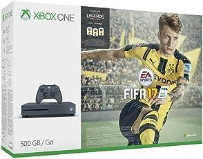 Xbox One S 500GB Konsole (Grau) - FIFA 17 Special Edition Bundle (exklusiv bei Amazon.de)
