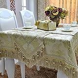 DXG&FX Simple Mode im europäischen Stil Luxus Tisch Leinen Tischdecke Tisch Tuch, Tuch, Leinen, a, 145*220m(57x87inch)