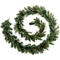 WeRChristmas Victorian Pine Christmas Garland Decoration, 9 feet - Green