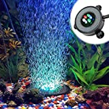 Supmaker Aquarium Air Stone Bubble Diffuser with 6 Color Change LEDs for Fish