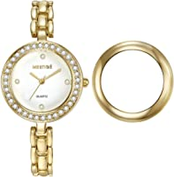 Mestige Elizabeth Women's Gold Dial Alloy Band Watch - MSWA3061